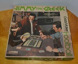 VINTAGE AURORA JIMMY THE GREEK FOOTBALL ODDS MAKER BOARD GAME SPORTS COL... - $24.17