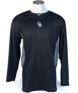 Nike Pro Combat Dri Fit Colorado Rockies Fitted Long Sleeve Athletic Shi... - $48.74