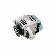 CHROME MINI ALTERNATOR DENSO STREET ROD RACE 1-WIRE 90 AMP one wire street rod image 1