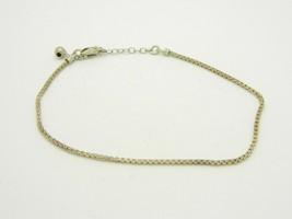 "Signed AZ Italy .925 Sterling Silver Chopin Ankle Bracelet 9"" Vintage 4 grams - $19.79"