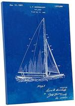 """Pingo World 0301Q3ZMUIY """"Sail Boat Patent"""" Gallery Wrapped Canvas Print, 30"""" x 2 - $58.36"""