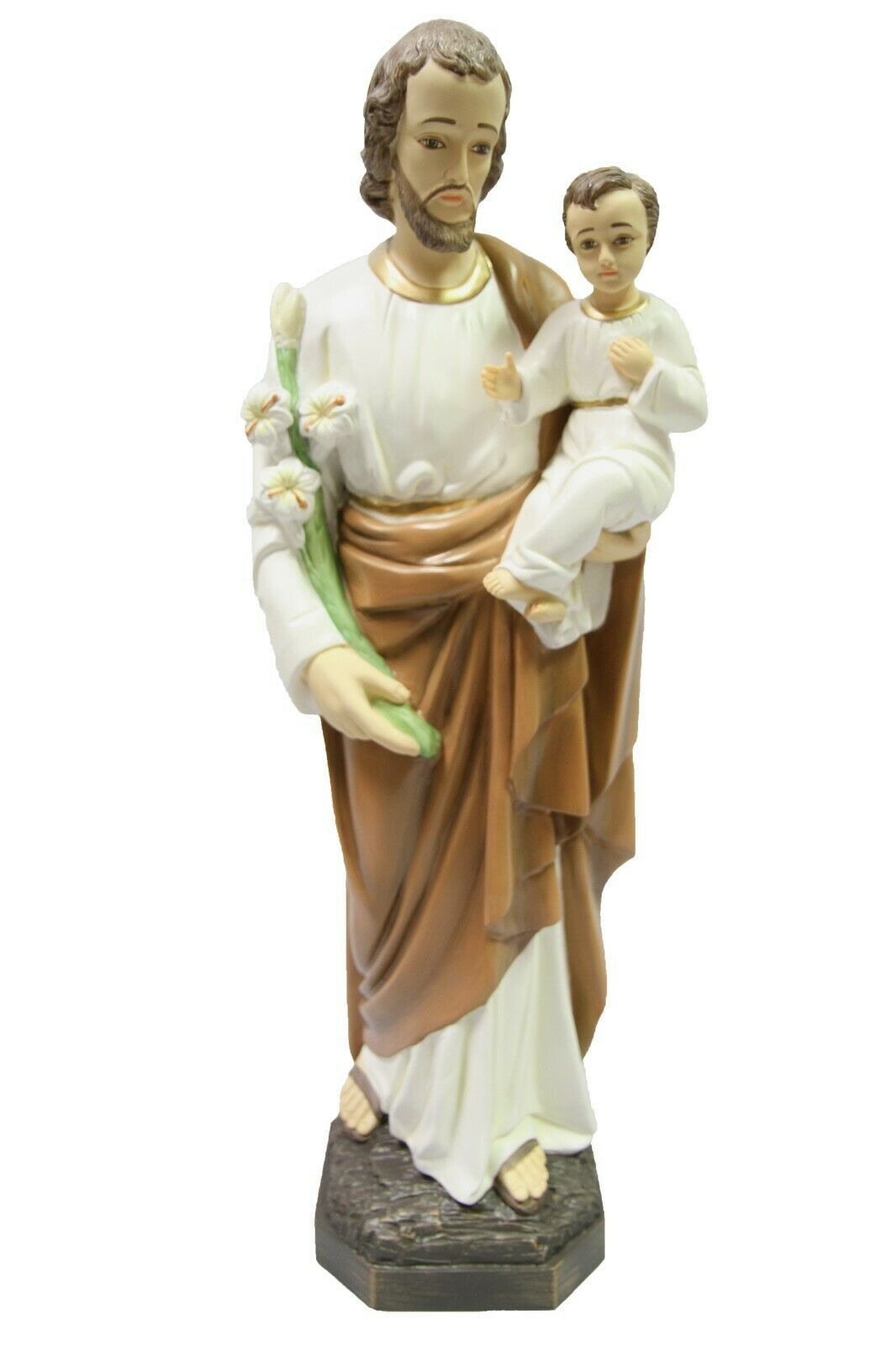 "Primary image for 25.5"" Saint Joseph with Jesus Child Catholic Statue Figurine Vittoria Italy"