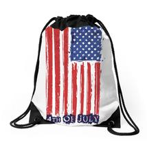 4th Of July Flag Drawstring Bags - $30.00