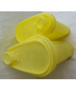 2 Retro Tupperware Yellow Classic Oval Beverage Pitcher with Lid Plastic - $28.95