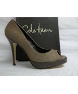 Cole Haan Size 10 M Stephanie Air Grey Leather Hair Calf Pumps New Women... - $80.60
