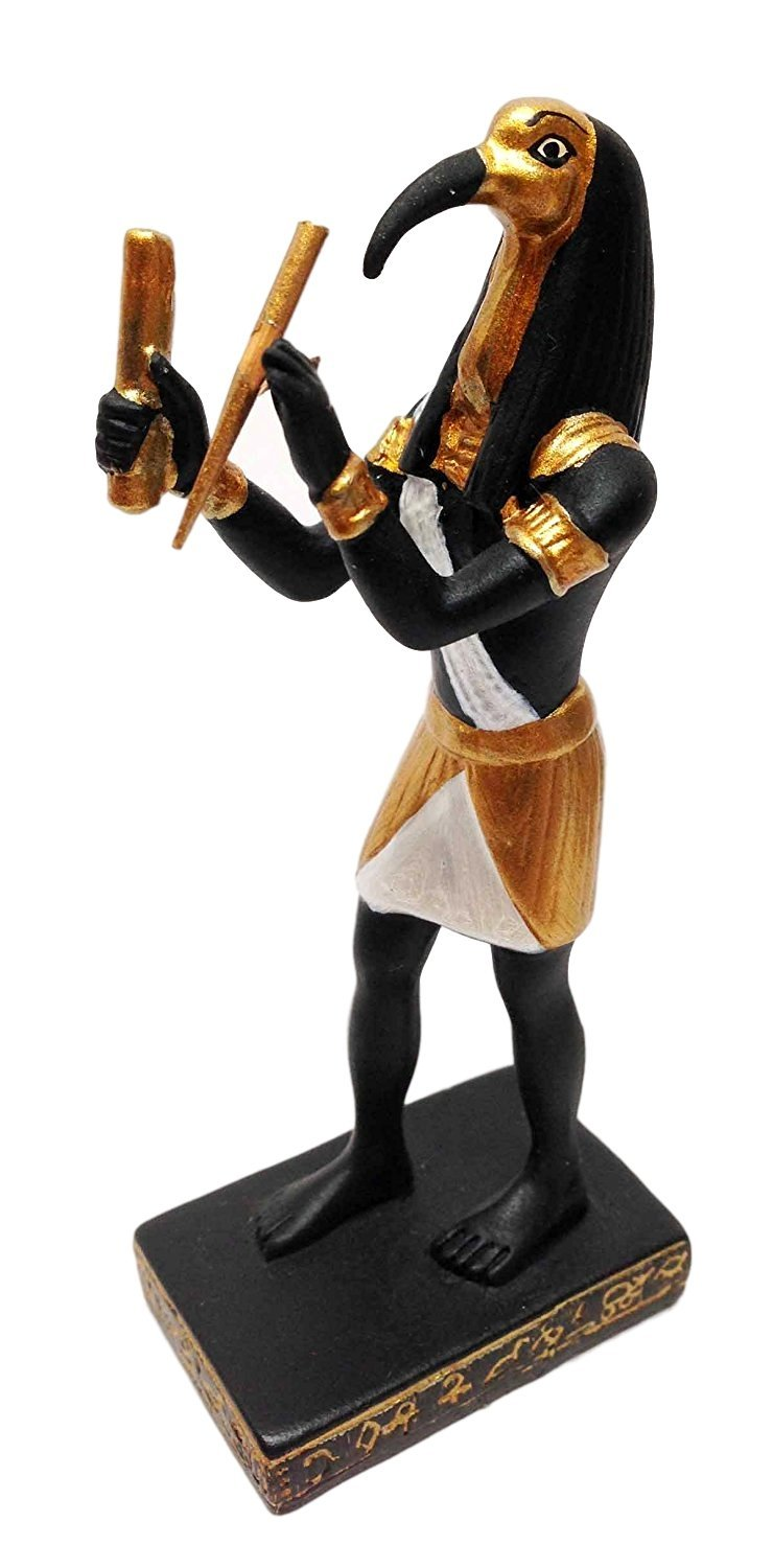 DOLL HOUSE MINIATURE EGYPTIAN EGYPT THOTH STATUE GOD OF INTELLIGENCE DEAD SMALL for sale  USA
