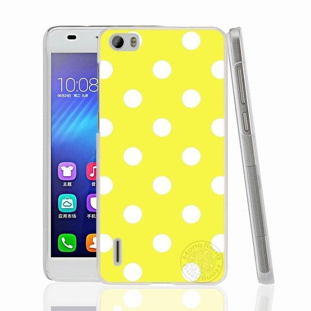 HAMEINUO Creative Design Polka Dot cell phone Cover Case for huawei honor 3C 4A