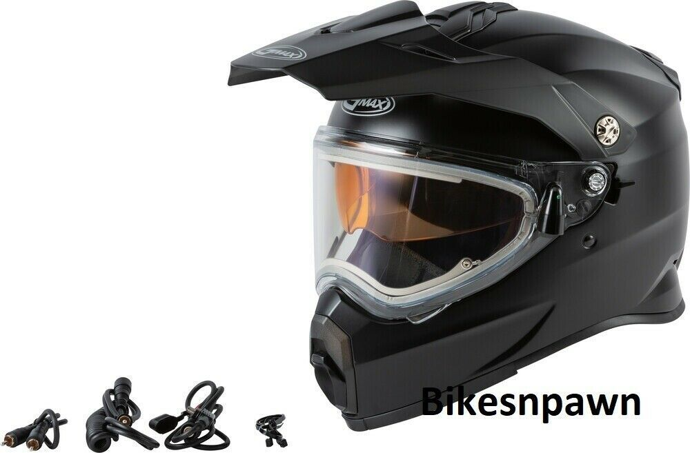New Adult M Gmax AT-21S Matte Black Cold/ Snow Helmet w/Electric Shield DOT/ECE