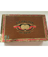 vintage la palina de luxe ideals cigar  brown box red trim congress ciga... - $19.75