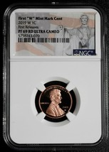 2019 W First Releases Mint Mark Lincoln Penny Cent NGC PF69 RD Coin SKU C72