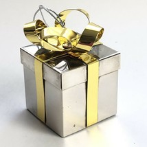 Vintage Godinger Christmas Ornament Silver Plated Gift Box Style  - $30.35