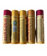 Lot of 5-Burts Bees Moisturizing Beeswax Lip Balm -Classic,Pomegranate &... - $12.61