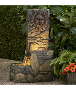 "Outdoor Fountain With LED Light Electric Pump 37 "" Tall Large Wall Garde... - $293.55"