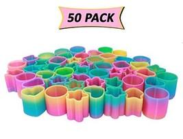 Mini Magic Spring Assortment - Bulk Pack Of 50 Rainbow Springs - Great Party Fav