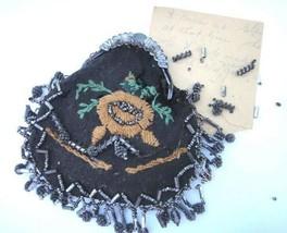 1850s antique victorian HANDMADE PURSE~EMMA NICHOLS WORRILOW glen mills pa - $87.95