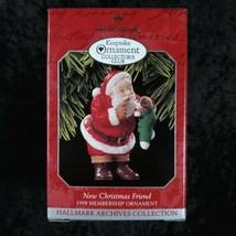 Hallmark Keepsake Ornament Collectors Club New Christmas Friend Handcrafted 1998 - $14.84