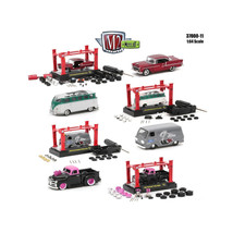 Model Kit 4 Pieces Set Release 11 1/64 Diecast Model Cars by M2 Machines... - $60.54