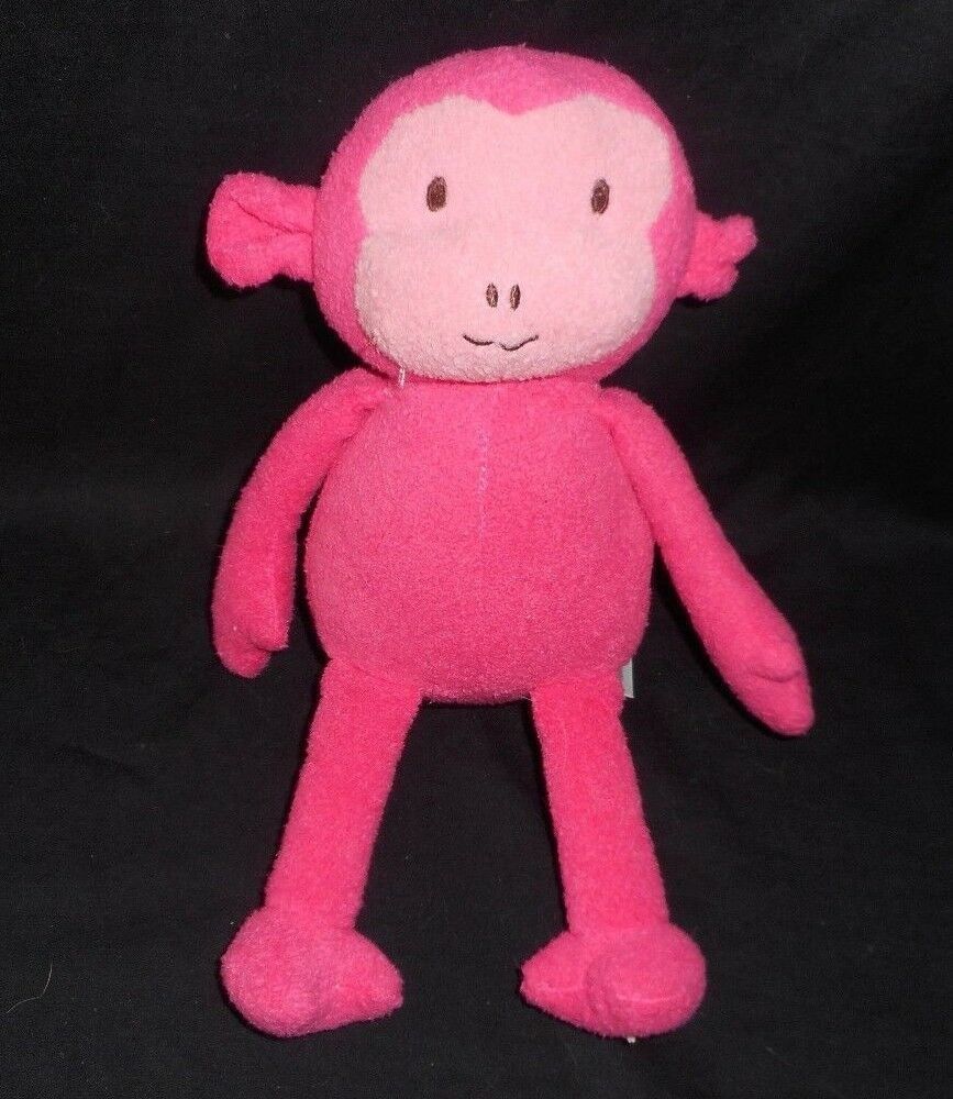 "Primary image for 12"" TARGET ANIMAL ADVENTURE 2012 PINK BABY MONKEY APE STUFFED ANIMAL PLUSH TOY"