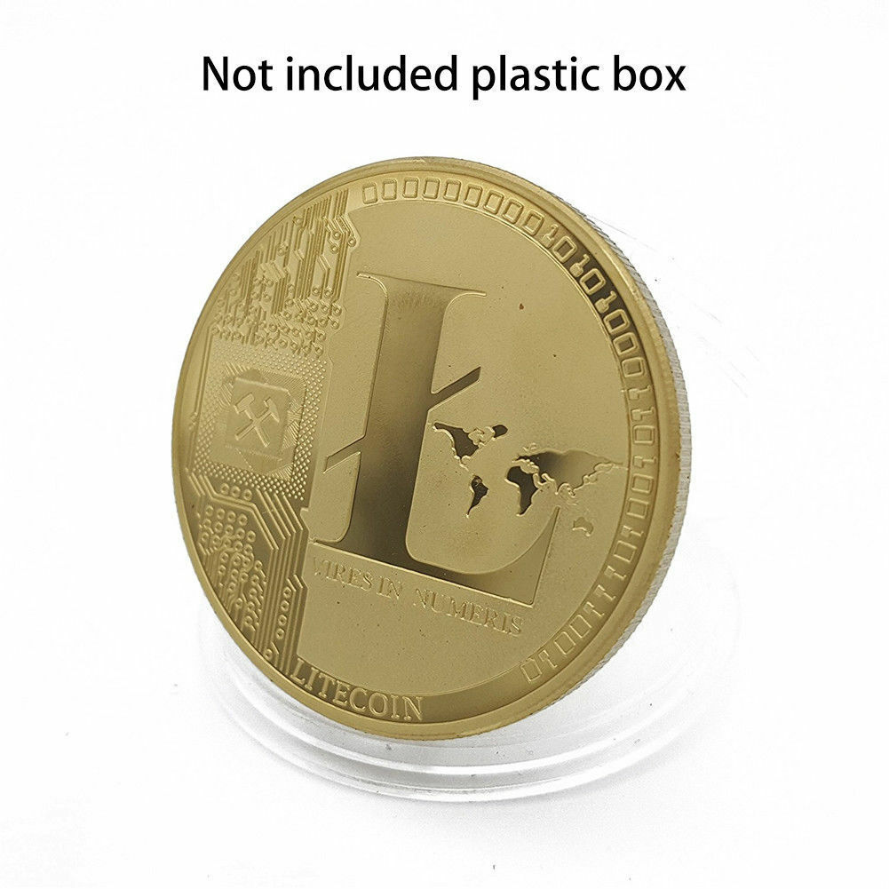 Gold Plated Commemorative Litecoin Collectible Golden Iron Miner Coin - One Item