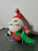 Vintage Holiday Rock N Roll Santa Christmas Keychain - Plush only - No M... - $12.86