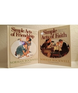 Norman Rockwell Simple Acts of Faith and Friendship Books Set of 2 - $22.00