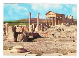 Tunisia Dougga Thugga Ancient Roman Ruins Archaeology Vntg 4X6 Postcard - $4.99