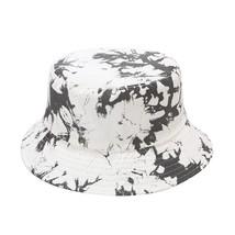 like picture Wholesale Ins Tie Dye Two Side Summer Bucket Hat Women Men ... - $40.48