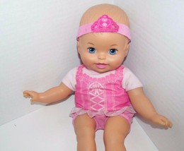 Fisher Price Baby So New Doll Little Mommy pink ballerina blue eyes USED  - $9.89