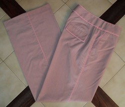 EXPRESS Pink/Beige Pinstripe CORRESPONDENT Stretch Full Leg Dress Pants ... - $39.10