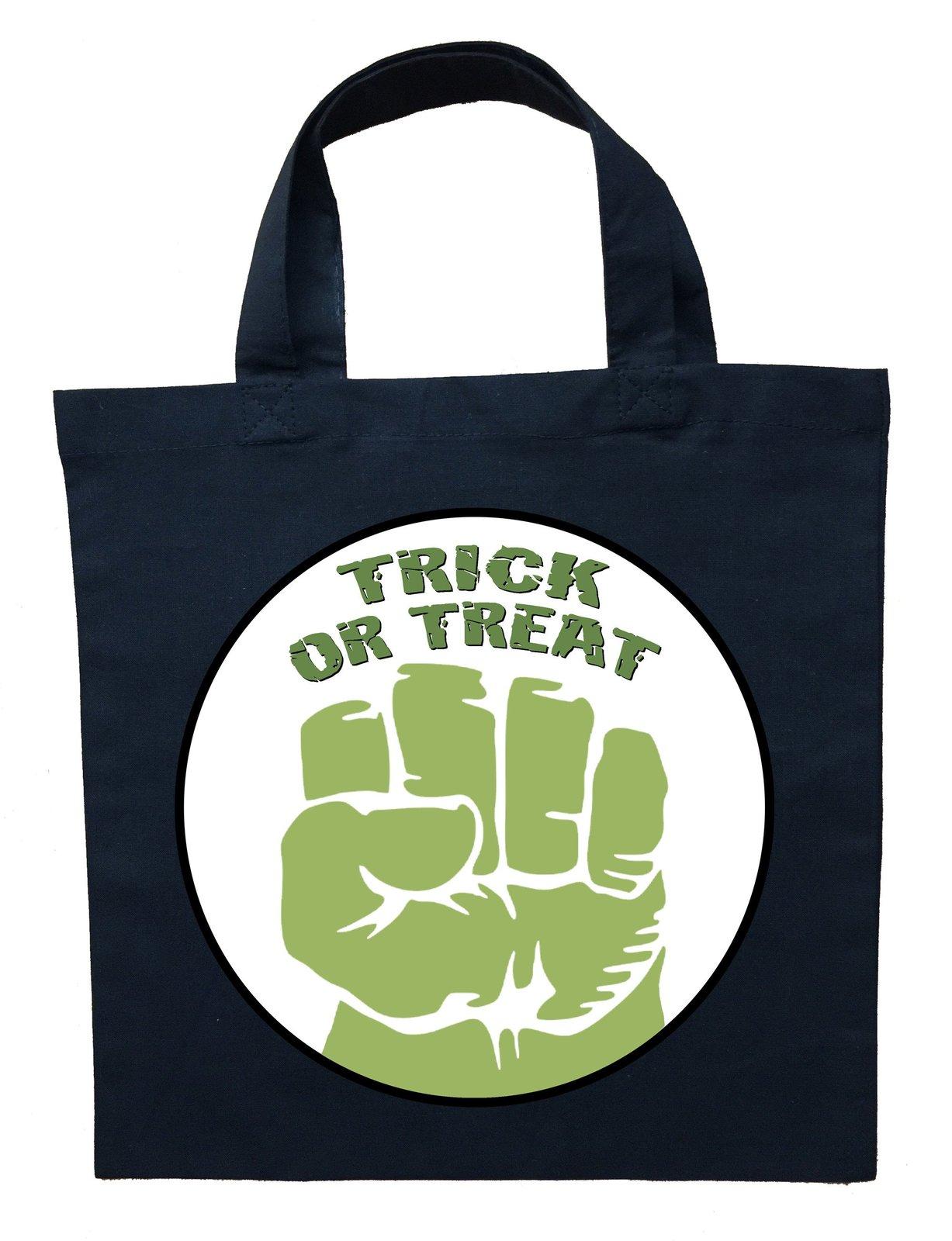 Incredible Hulk Trick or Treat Bag - Personalized Incredible Hulk Halloween Bag