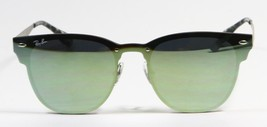 Ray Ban 3576N 042/30 Blaze Clubmaster Silver Green Mirror Sunglasses 47m... - $103.90
