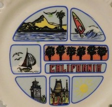 Vintage United States California Souvenir Hanging Plate Wall Decor - $12.20
