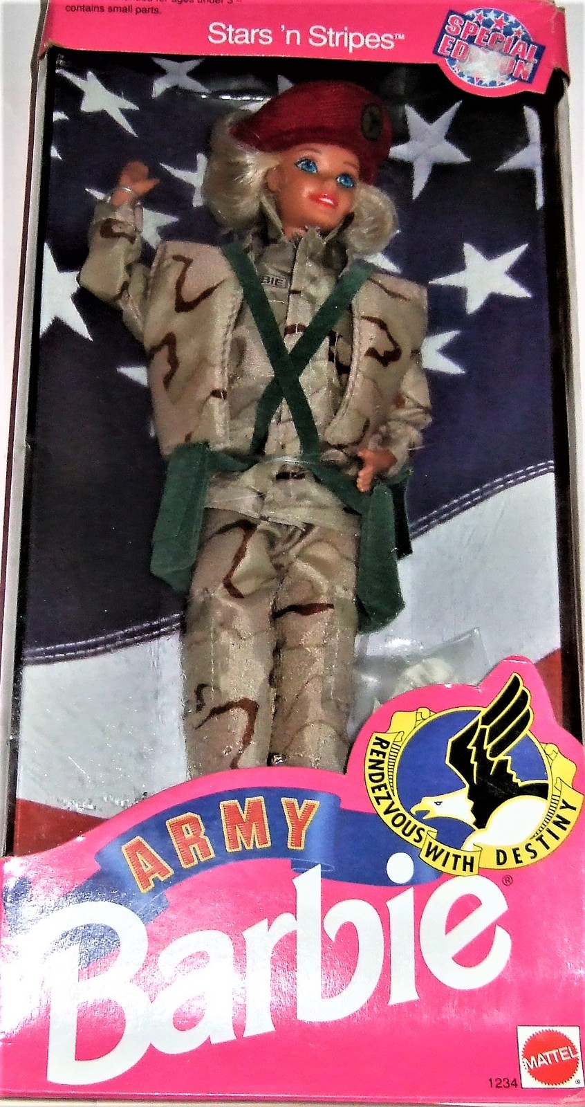 Primary image for Barbie Doll - Specail Edition Stars n Stripes Army Barbie