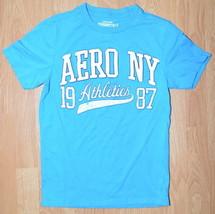 N061 Men's T-shirt Aeropostale AERO NY Size XS Blue - $3.25