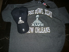 Super Bowl XLVII '47 NFL shirt large and Hat Cap Black both new with tags - $24.99