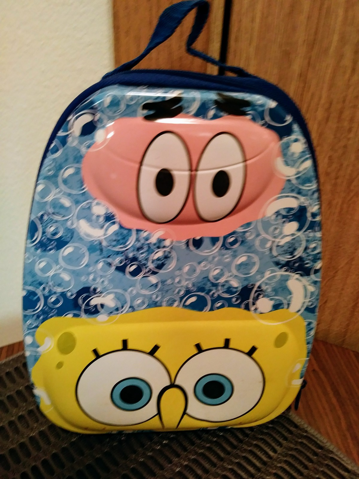 SpongeBob SquarePants Tin Lunch Box Front & Back Straps 2008 New Kids Lunch Box
