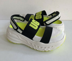 Ugg Slingback Runner White Yellow Platform Sneaker Shoe Us 7 / Eu 38 / Uk 5 - $158.62 CAD