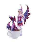Amy Brown Get Out of My Tub Cup Fairy Dragon Fantasy Art Figurine Collec... - $32.66