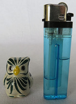"""Porcelain Hand Painted Owl Figurine Made in Mexico 1"""" Tall - $20.00"""