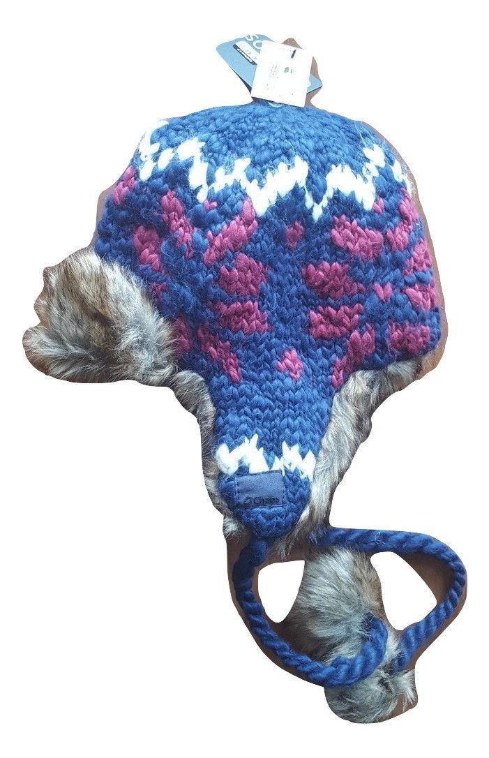 NWT Chaos Girls' Navy Peruvian Knit Faux Fur Trapper Hat - $19.75