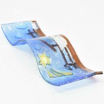 Fused Art Glass Christmas Nativity Star Wavy Décor Sun Catcher Handmade Ecuador image 7