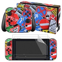 eXtremeRate Full Set Faceplate Skin Decal Stickers for Nintendo Switch w... - $13.02