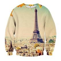 Eiffel Tower Paris Iconic Structure Simple Art Sweatshirt - $36.99