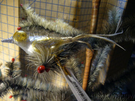 3 Bethany Lowe Vintage Glass Bird Ornaments  image 2