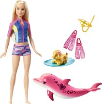 Barbie - Barbie Dolphin Magic Snorkel Fun Friends Doll - Blue / Yellow /... - $29.45