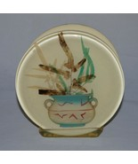 Lucite Acryllc Napkin Holder With Pressed Flowers in Vase - $15.99