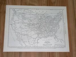 1941 ORIGINAL VINTAGE MAP OF UNITED STATES / RAILWAYS RAILROADS TRAINS - $7.92