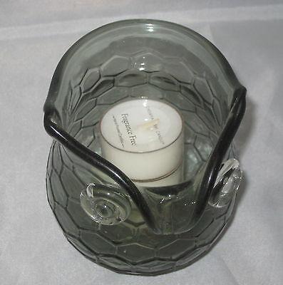 Owl Votive Candle Holder Glass Tea Light Chesapeake Bay Grey Bird New