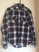 mens small american eagle button up vintage fit casual shirt very nice RAS995 - $14.84