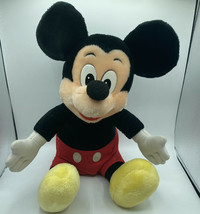 "Mickey mouse disneyland walt disney world 14"" plush stuffed 80s - $16.69"